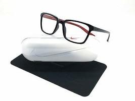 Nike Black Red Plastic Eyeglasses 7096 005 53mm 17mm 140mm - $58.17