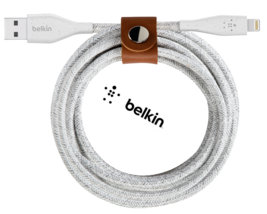 Genuine Belkin DuraTek Plus 4' Lightning USB Type A Cable For iPhone (Wh... - $29.99