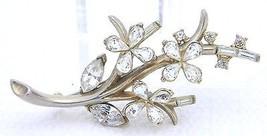 VTG 1951 TRIFARI PAT PEND Alfred Philippe Clear Rhinestone Star Flower B... - $99.00