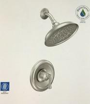 MOEN Ashville Single-Handle 1-Spray Shower Faucet with Valve Brushed  Nickel #16 - $93.84