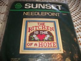 Sunset Kit 5561~Heart Of A Home Needlepoint Kit - $10.00