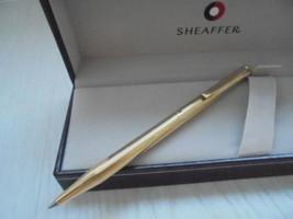 SHEAFFER FASHION PENNA SFERA IN ORO ELECTROPLATED GOLD + SCATOLA Ball Pe... - $39.22