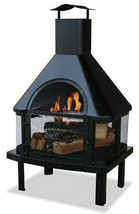 Uniflame 360-Degree View Firehouse Outdoor Patio Wood Fireplace Fire Pit - £168.57 GBP