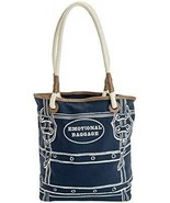 JKC Studios Blue Cotton Canvas Emotional Baggage Tote Bag With Rope Handles, By - £53.74 GBP