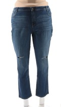 Style & Co. Womens Plus Denim Destroyed Slim Jeans BLUE 20W NEW - $34.63