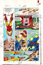 Original 1984 Iron Man 181 page 15 Marvel Comics color guide art:1980's ... - $99.50