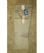 "DICKIES Girls Junior Khaki Uniform Capri Sz 13 Boot Cut Waist 36"" x Ins ... - $14.80"