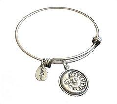 Bella Ryann Sun Moon & Stars Silver Charm Bangle Bracelet