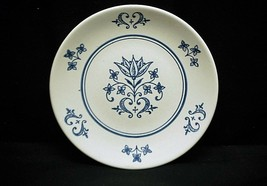Vintage Bread & Butter Plate White w Cobalt Blue Design Dinnerware Unkno... - $9.89