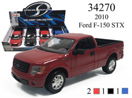 New MAISTO 1/24 - 2010 FORD F-150 STX DIECAST CAR CHOOSE COLOR - $19.00
