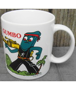 Vintage 80s GUMBY as Rambo GUMBO Coffee Mug Cup Art CLOKEY - $24.99