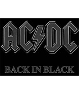 AC / DC Rock Group Back In Black Logo T-Shirt Size SMALL, NEW UNWORN - $14.50