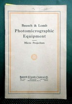 vintage BAUSCH&LOMB PHOTOMICROGRAPHIC EQUIPMENT CATALOG w/prices micro p... - $48.95