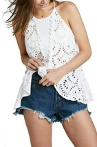 New $88 Free People Starry Eyelet Tunic Size X-SMALL & SMALL White - $32.00