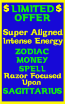 Money Spell Highly Charged Spell For Sagittarius Millionaire Magic Luck Money - $47.00