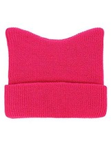 D&Y Women's March Top Cat Ears Beanie Pussycat Hat, Hot Pink - $30.99