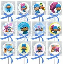 Pocoyo Lollipops Party Favors Supplies with Blue Ribbon Bows Decorations... - $14.80