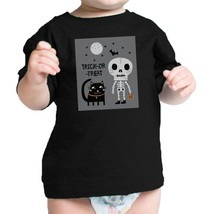 Trick-Or-Treat Skeleton Black Cat Baby Black Shirt - $13.99