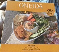 Oneida Chef's Table Fine Porcelain Chip & Dip Bowl New In Box. - $18.69