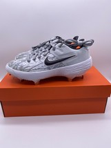 Nike Alpha Huarache Elite 2 Low Womens Softball Cleats White AJ7732-002 Sz 7 - $33.74