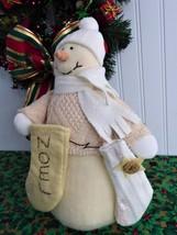Snowman Soft Winter Decor Christmas Stockings 1990s Russ Judy Lynn Collection - $18.00