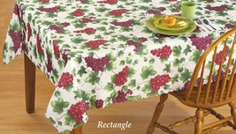 "Linen Scalloped Edge Vineyard Tablecloth size 60"" x 90"" (6-8 ppl), GRAPES - $17.81"