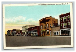 Vintage 1940's Linen Postcard Arendell Street Morehead City North Carolina - $15.81