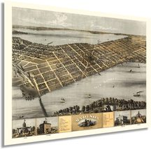 1867 Madison Wisconsin Map - Vintage Map of Madison Wisconsin Wall Art - Old Mad - $34.99+