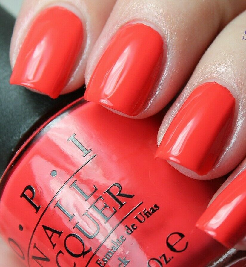 Primary image for OPI Hawaii *ALOHA FROM OPI* Bright Coral Orange Cream Nail Polish Lacquer H70