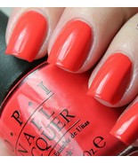OPI Hawaii *ALOHA FROM OPI* Bright Coral Orange Cream Nail Polish Lacque... - $8.44