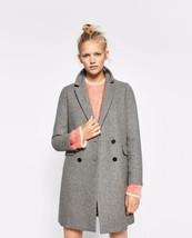 c7ecb01a Bnwt Zara Grey Bouble Button Masculine Coat S.Xs,S REF.1255/