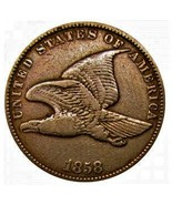 1858 One Cent Flying Eagle Fast Expedited, guaranteed refund Great value - £3.61 GBP