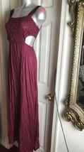 Elements Red Burgundy Cutout Maxi Dress (US Size Medium M) - $19.79