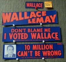 George Wallace 1968 Era (3) Auto Bumper Stickers- He Is Pic't On One + ... - $9.90