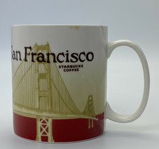 Chipped Starbucks coffee San Francisco 2010 Collectors Series 16 oz mug Cup Icon - $7.91