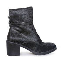UGG ORIANA EXOTIC BLACK LEATHER ANKLE STACKED HEEL WOMENS BOOTS SIZE US ... - £118.33 GBP
