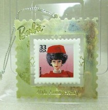 Vintage 1999 BARBIE 40th ANNIVERSARY SILKEN FLAME POSTAGE STAMP ORNAMENT... - $4.94
