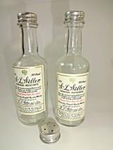 Vintage W.L. Weller Bourbon Miniature Liquor Bottle Glass Salt & Pepper ... - $16.54