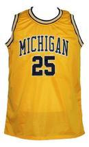 Juwan Howard #25 Custom College Basketball Jersey New Sewn Yellow Any Size image 1
