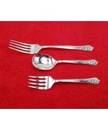 3 Piece Baby Youth Fork Spoon Set Engagement by Oneida Community Sterlin... - $177.21