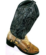 Dan Post Men's Exotic Python Snakeskin Western Cowboy Boots 3036 Size 9.5 W - $121.18