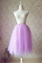 Purple Tulle Tutu Skirt High Waisted 4-Layered Tulle Skirt Ballet Skirt image 6