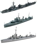 3 Tamiya Destroyers – O Class British, Australian Vampire and German Z C... - $42.56