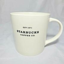 Starbucks Coffee 2010 New Bone China Mug Cup Estd 1971 Black Letters Wid... - $22.72