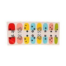 [Set of 2]Easily Apply 12 PCS Artificial Salon Nail Polish Sticker, Colour Star