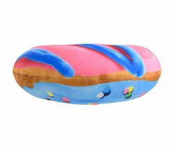 2 Scoops Scented Micro Bead Pillow Plush Blue Pink Classic Sprinkle Donut NWT image 3
