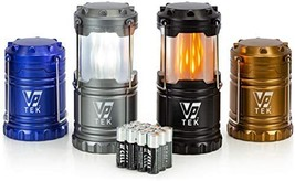 VP TEK Dual Function Collapsible LED Camping Lanterns with Flickering Fl... - $40.00