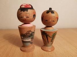 Vintage Japan Made 2(two) Kokeshi dolls (7cm) - $20.26