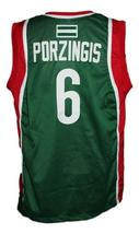 Kristaps Porzingis #6 Sevilla Baloncesto Basketball Jersey New Green Any Size image 2