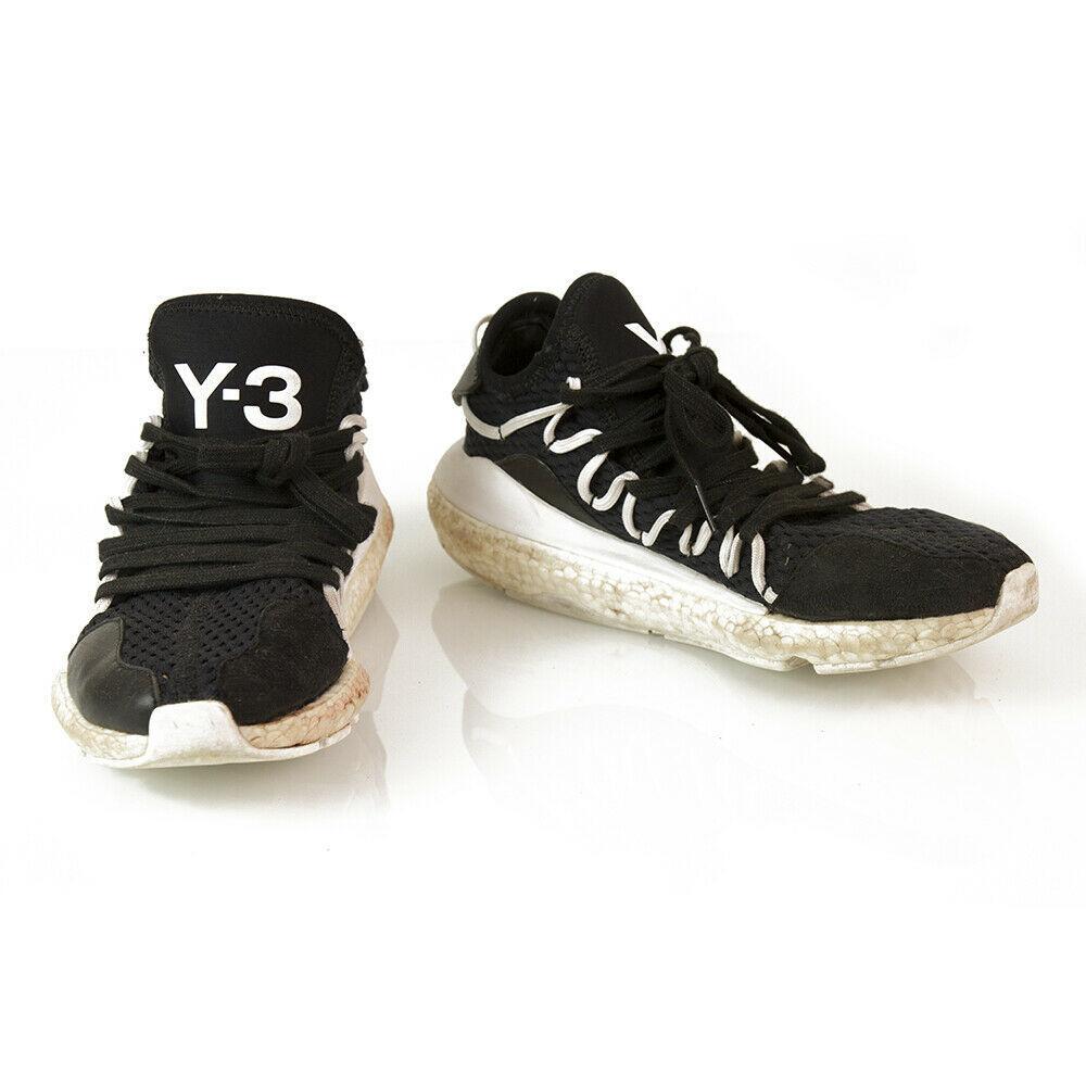 Y-3 Adidas Yohji Yamamoto Kusari Black White Sole Sneakers Trainers shoe US 6.5